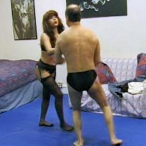 Joan Wise Classic Female Wrestling Video 384